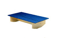 """Rocker Board - Wooden with carpet - side-to-side - 30"""" x 60"""" x 12"""""""