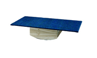 """Rocker Board - Wooden with carpet - side-to-side, front-to-back combo - 30"""" x 60"""" x 12"""""""