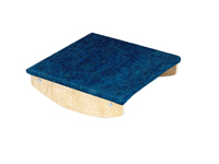 """Rocker Board - Wooden with carpet - side-to-side, front-to-back combo - 18"""" x 18"""" x 5"""""""