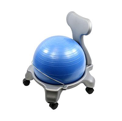 """Cando ball chair-Métal-Mobile-avec dos-sans bras-avec 18/"""" Balle"""