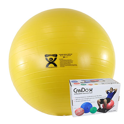 """CanDo Inflatable Exercise Straight Roll-Orange-20/"""" Dia x 43/"""" L 30-1781 NEW"""