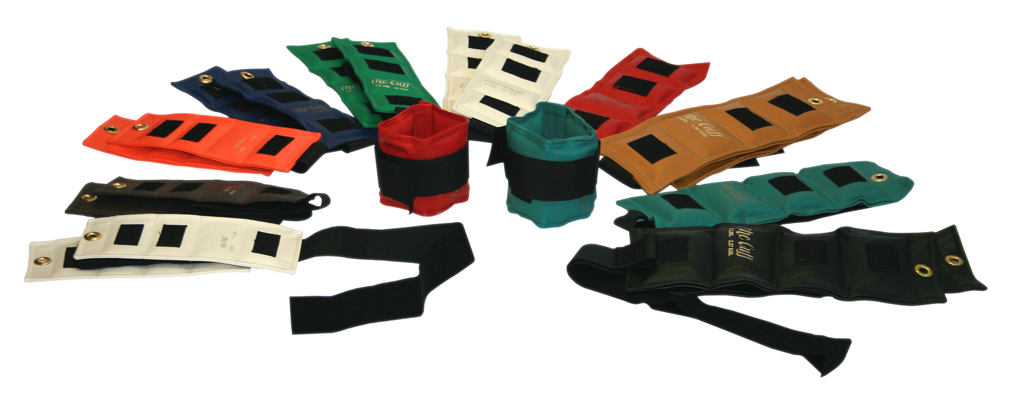 CANDO CUFF WEIGHTS SET PHYSICAL THERAPY WEIGHTS ANKLE AND WRIST 1-5 LBS