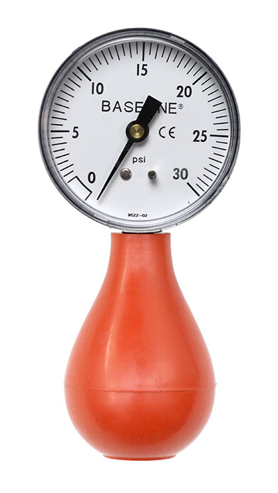 Baseline pneumatic (squeeze bulb) dynamometer (30 PSI)