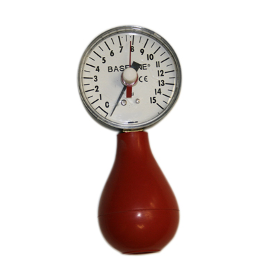 Baseline pneumatic (squeeze bulb) dynamometer (15 PSI) with reset