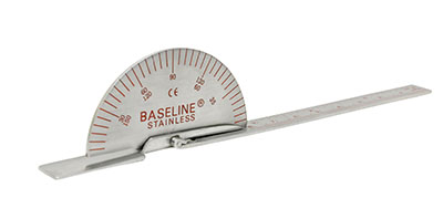 Baseline SS deluxe finger goniometer, 6 inches