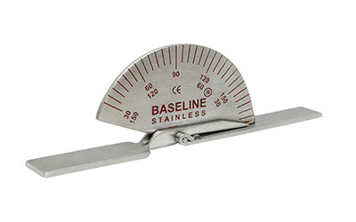 Baseline SS finger goniometer, 3-1/2 inches