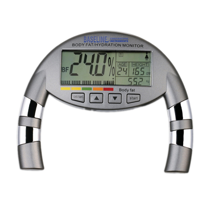Baseline hand-held body fat monitor