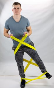 CanDo® Multi-Grip™ Exerciser- Cross Squat Hip Abduction Combo